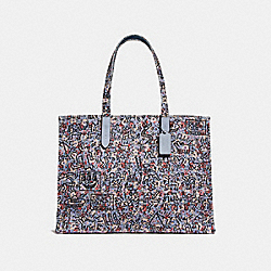 COACH 28656 - COACH X KEITH HARING TOTE 42 BP/SKY BLUE