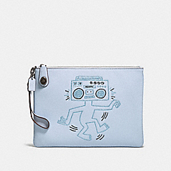 COACH 28678 - COACH X KEITH HARING TURNLOCK WRISTLET 30 ICE BLUE/BLACK COPPER