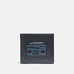 COACH 28720 - COACH X KEITH HARING DOUBLE BILLFOLD WALLET MIDNIGHT BOOMBOX