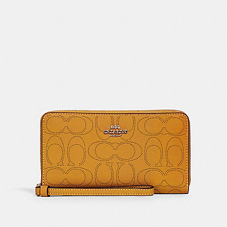 COACH 2876 LARGE PHONE WALLET IN SIGNATURE LEATHER IM/HONEY