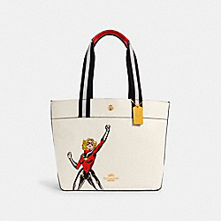 COACH 2902 - COACH │ MARVEL JES TOTE WITH CAROL DANVERS IM/CHALK MULTI