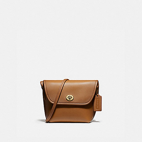 COACH 2905 TURNLOCK POUCH B4/LIGHT-SADDLE