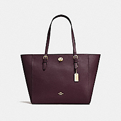 COACH 29086 - TURNLOCK TOTE OXBLOOD/LIGHT GOLD