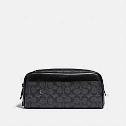 COACH 29195 Dopp Kit In Signature Canvas CHARCOAL