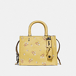 COACH 29216 - ROGUE 25 WITH SEQUINS FLORAL BOW PRINT BLACK COPPER/SUNFLOWER