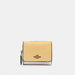 COACH 2923 - SMALL TRIFOLD WALLET IN COLORBLOCK IM/VANILLA CREAM MULTI