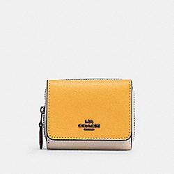 SMALL TRIFOLD WALLET IN COLORBLOCK - 2923 - QB/MIDNIGHT/ HONEY MULTI