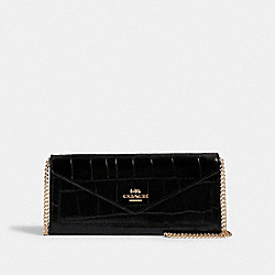 COACH 2933 Slim Envelope Wallet IM/BLACK