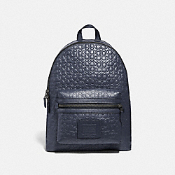 COACH 29493 - ACADEMY BACKPACK IN SIGNATURE LEATHER MIDNIGHT NAVY/BLACK ANTIQUE NICKEL