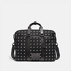 COACH 29506 - METROPOLITAN CONVERTIBLE BRIEF WITH DOT DIAMOND PRINT MW/BLACK/CHALK