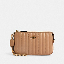 COACH 2950 Large Wristlet 19 With Linear Quilting IM/TAUPE