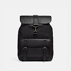 COACH 29523 Bleecker Backpack BLACK/BLACK COPPER FINISH