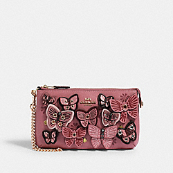LARGE WRISTLET WITH BUTTERFLY APPLIQUE - 2955 - IM/ROSE MULTI