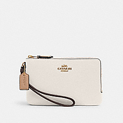 DOUBLE CORNER ZIP WRISTLET IN COLORBLOCK - IM/CHALK MULTI - COACH 2959