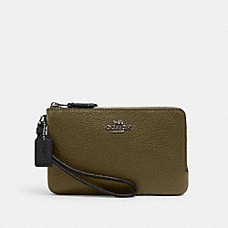 DOUBLE CORNER ZIP WRISTLET IN COLORBLOCK - 2959 - QB/KELP MULTI