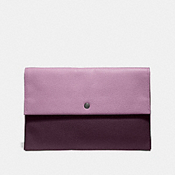 COACH 29664 Large Envelope Pouch In Colorblock JASMINE MULTI/SILVER