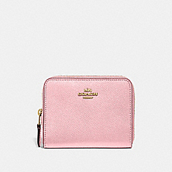 COACH 29677 - SMALL ZIP AROUND WALLET BLOSSOM/GOLD