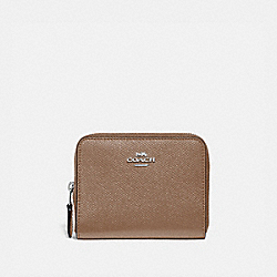 SMALL ZIP AROUND WALLET - 29677 - LH/TAUPE