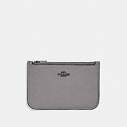 ZIP CARD CASE IN COLORBLOCK - 29687 - HEATHER GREY MULTI/DARK GUNMETAL