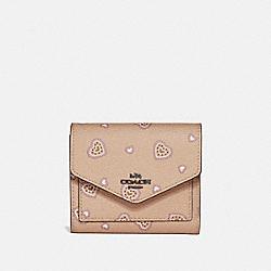 COACH 29740 Small Wallet With Western Heart Print BEECHWOOD WESTERN HEART/DARK GUNMETAL