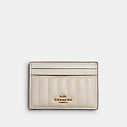 COACH 2980 - CARD CASE WITH LINEAR QUILTING IM/CHALK