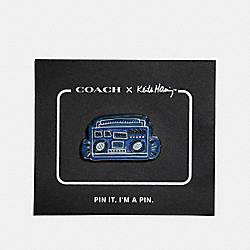 COACH X KEITH HARING PIN - 29839 - SKY BLUE
