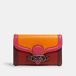 COACH 2988 - JADE MEDIUM ENVELOPE WALLET IN COLORBLOCK QB/TERRACOTTA/ELC PINK MULTI
