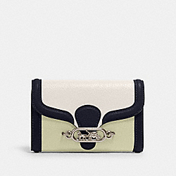 COACH 2988 - JADE MEDIUM ENVELOPE WALLET IN COLORBLOCK SV/CHALK PALE GREEN MULTI