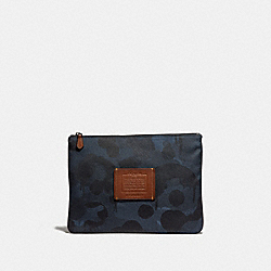LARGE MULTIFUNCTIONAL POUCH WITH WILD BEAST PRINT - DENIM - COACH 29976