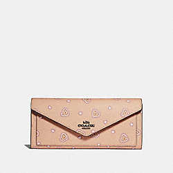 COACH 29987 Soft Wallet With Western Heart Print BEECHWOOD WESTERN HEART