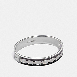 COACH 30193 - SIGNATURE CHAIN HINGED BANGLE BLACK MULTI/SILVER