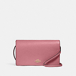 COACH 3037 - ANNA FOLDOVER CROSSBODY CLUTCH IM/ROSE