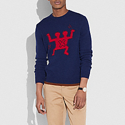 COACH 30393 - COACH X KEITH HARING SWEATER NAVY
