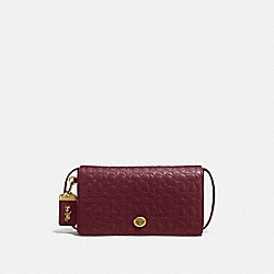COACH 30427 - DINKY IN SIGNATURE LEATHER OL/BORDEAUX
