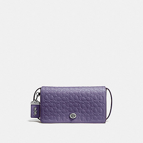 COACH 30427 DINKY IN SIGNATURE LEATHER DUSTY-LAVENDER/SILVER