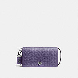 COACH 30427 - DINKY IN SIGNATURE LEATHER DUSTY LAVENDER/SILVER