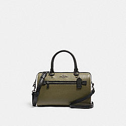 ROWAN SATCHEL IN COLORBLOCK - 3075 - QB/KELP MUTLI
