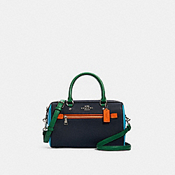 COACH 3075 - ROWAN SATCHEL IN COLORBLOCK SV/MIDNIGHT SEDONA MULTI
