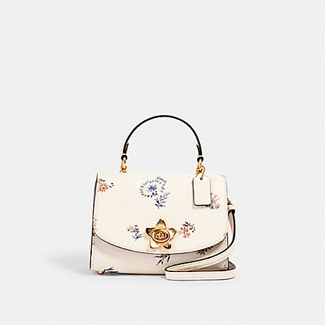 COACH MICRO TILLY TOP HANDLE WITH DANDELION FLORAL PRINT - IM/CHALK/ BLUE MULTI - 3078