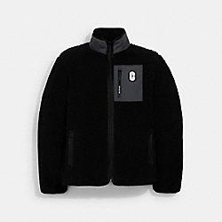 COACH 3090 Sherpa Fleece Jacket BLACK