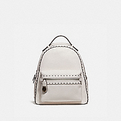 COACH 31016 Campus Backpack With Rivets CHALK/BLACK COPPER