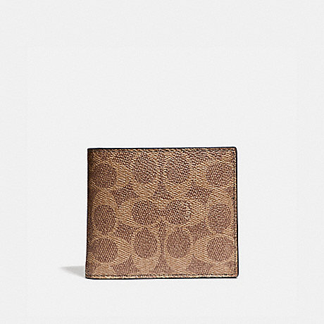 COACH 31213 3-IN-1 WALLET IN SIGNATURE CANVAS KHAKI