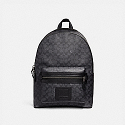 COACH 31216 Academy Backpack In Signature Canvas BLACK ANTIQUE NICKEL/CHARCOAL