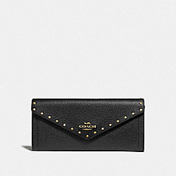 COACH 31426 Soft Wallet With Rivets B4/BLACK