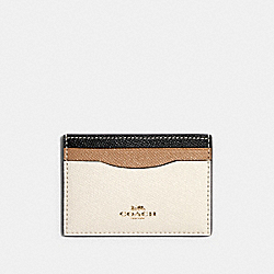 COACH 31555 Card Case In Colorblock IM/CHALK MULTI