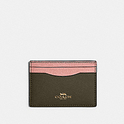 COACH 31555 - CARD CASE IN COLORBLOCK IM/CANTEEN MULTI