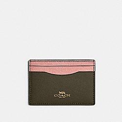 COACH 31555 Card Case In Colorblock IM/CANTEEN MULTI