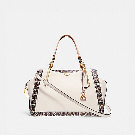 COACH DREAMER 36 IN COLORBLOCK WITH SNAKESKIN DETAIL - CHALK MULTI/LIGHT GOLD - 31645
