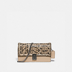 HUTTON CLUTCH IN SNAKESKIN - 3164 - V5/NEUTRAL