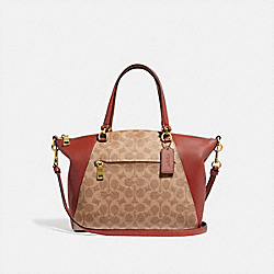 COACH 31666 Prairie Satchel In Signature Canvas TAN/RUST/BRASS